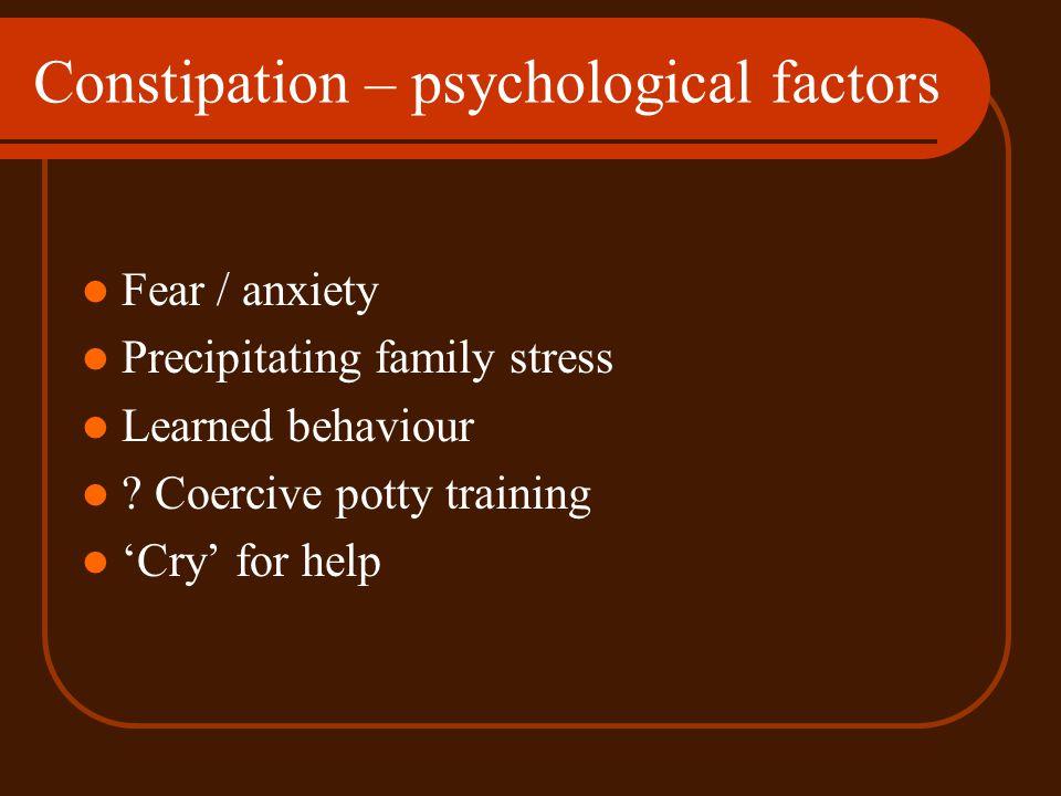 Constipation – psychological factors