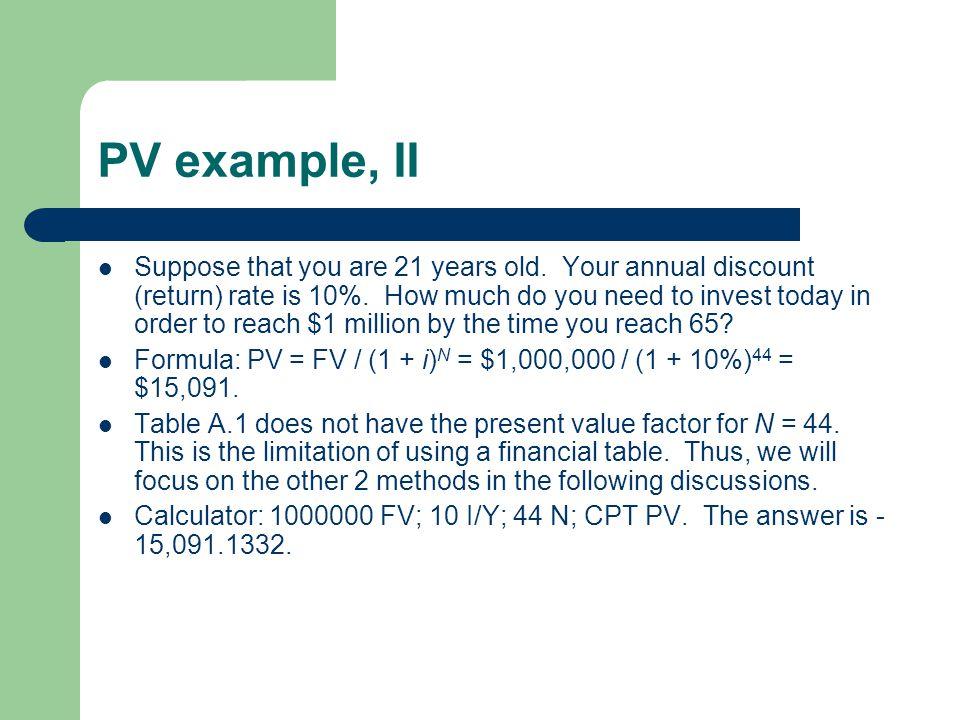 PV example, II