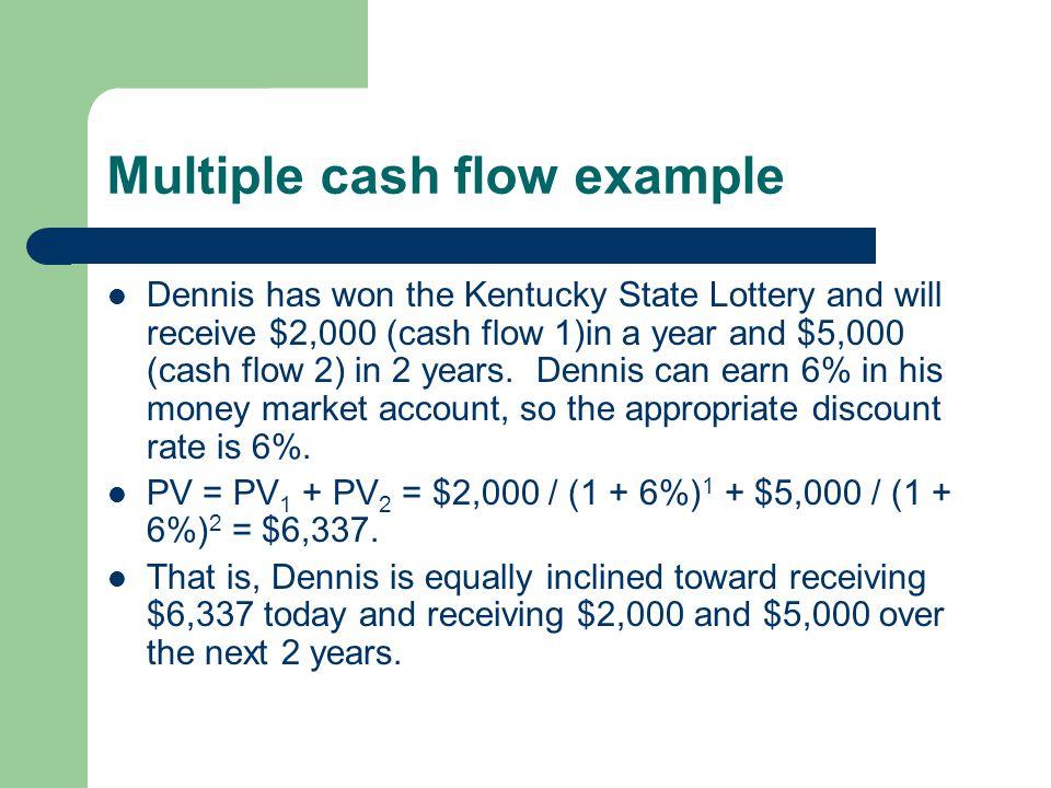 Multiple cash flow example