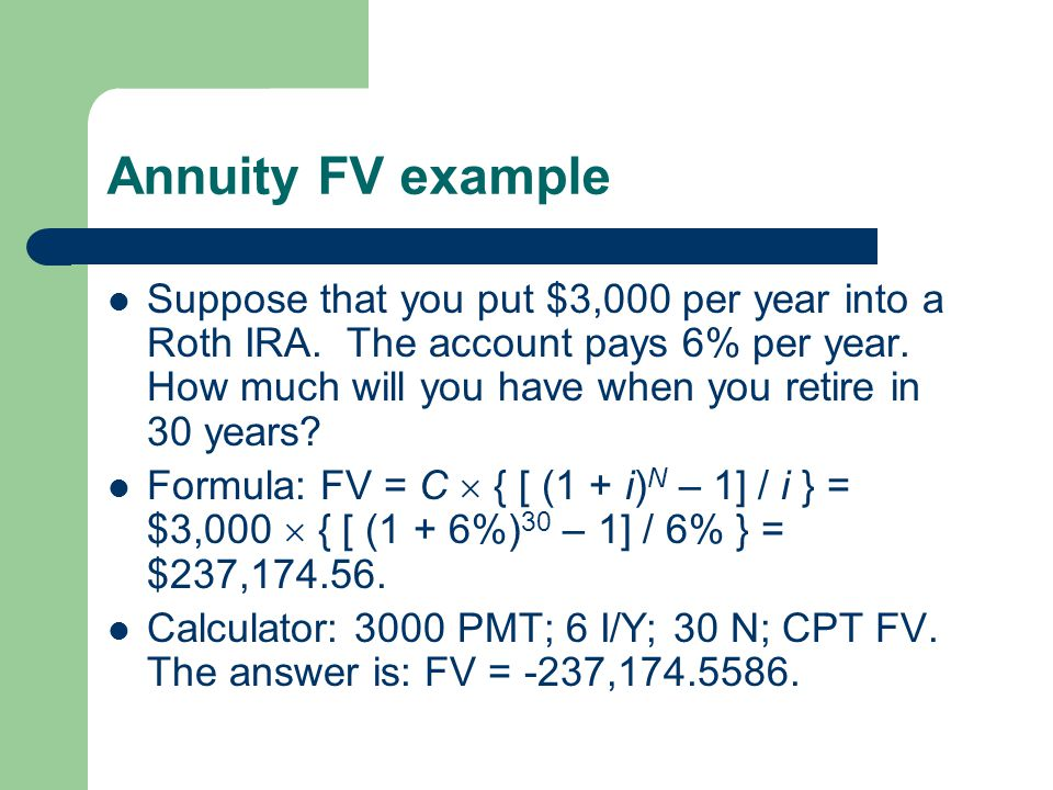 Annuity FV example