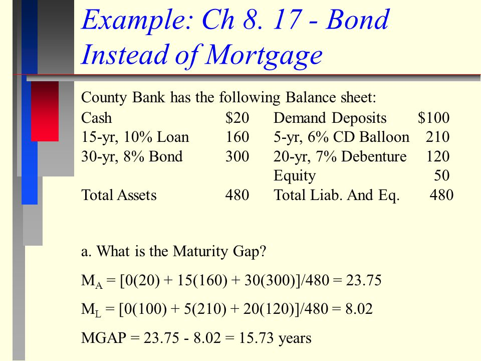 Example: Ch 8. 17 - Bond Instead of Mortgage