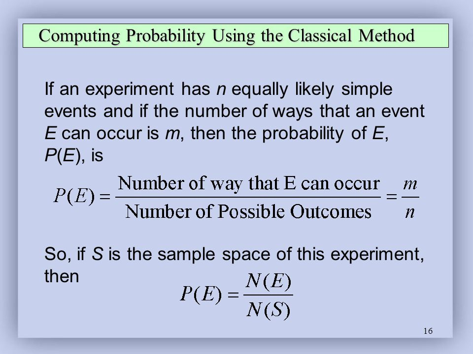 Computing Probability Using the Classical Method
