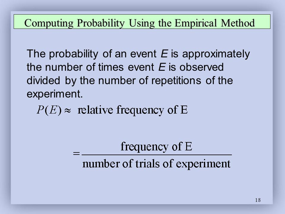 Computing Probability Using the Empirical Method