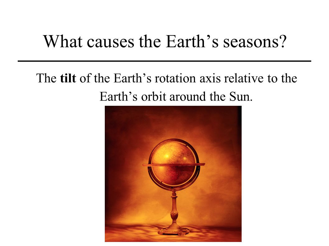 What causes the Earth's seasons