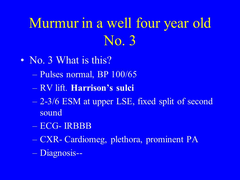 Murmur in a well four year old No. 3