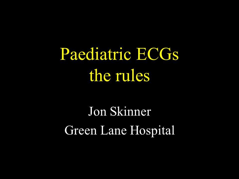 Paediatric ECGs the rules