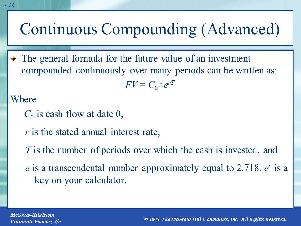 4.4 Simplifications Perpetuity Growing perpetuity Annuity