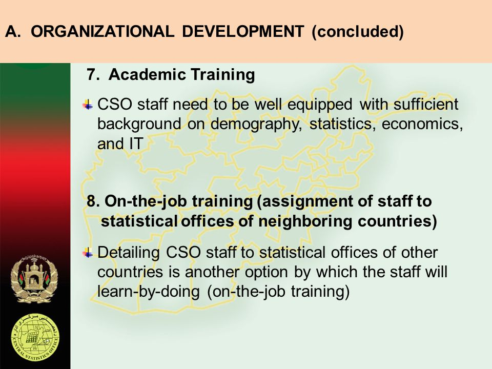 A. ORGANIZATIONAL DEVELOPMENT (concluded)