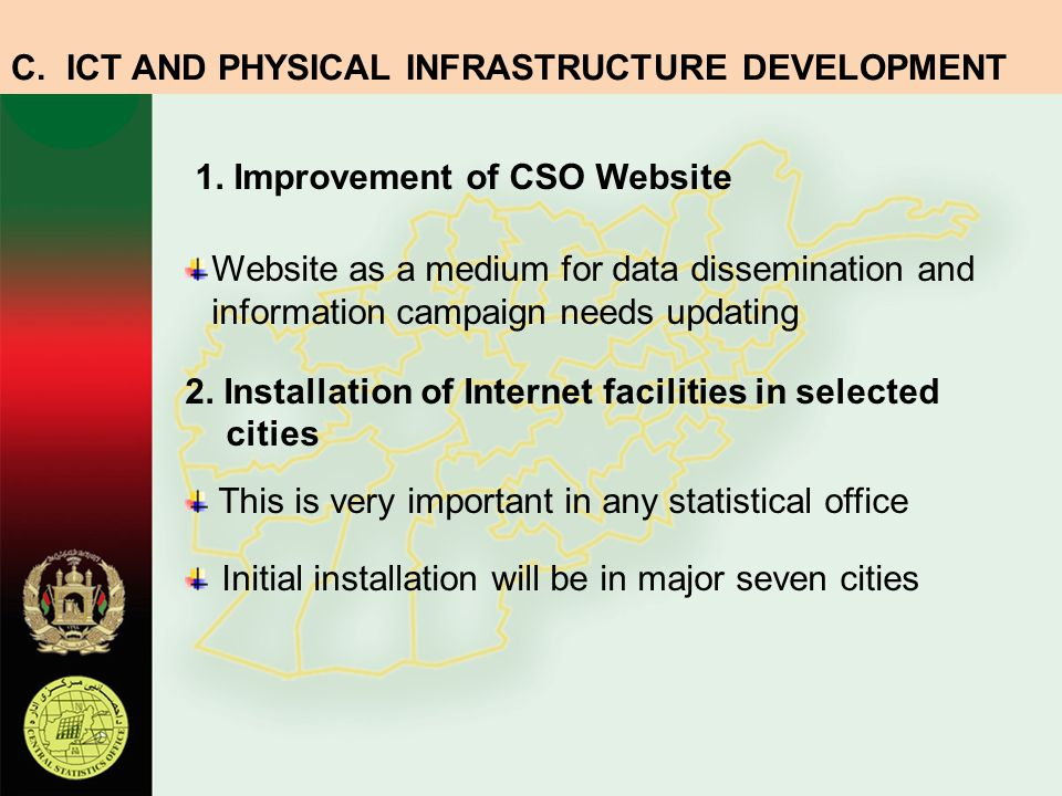 C. ICT AND PHYSICAL INFRASTRUCTURE DEVELOPMENT