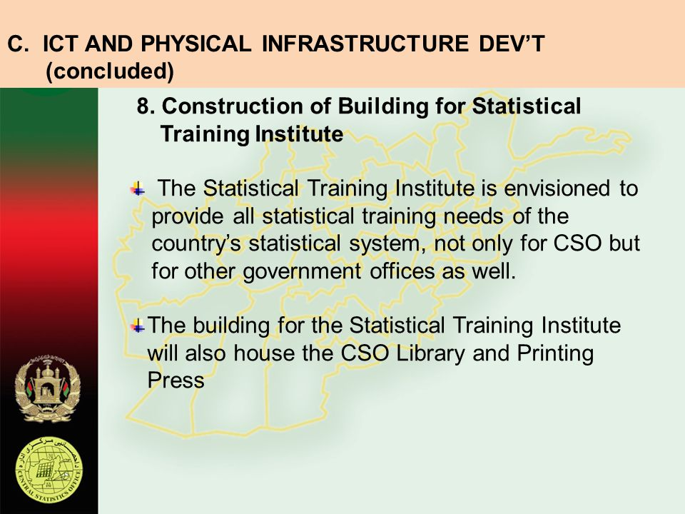 C. ICT AND PHYSICAL INFRASTRUCTURE DEV'T (concluded)