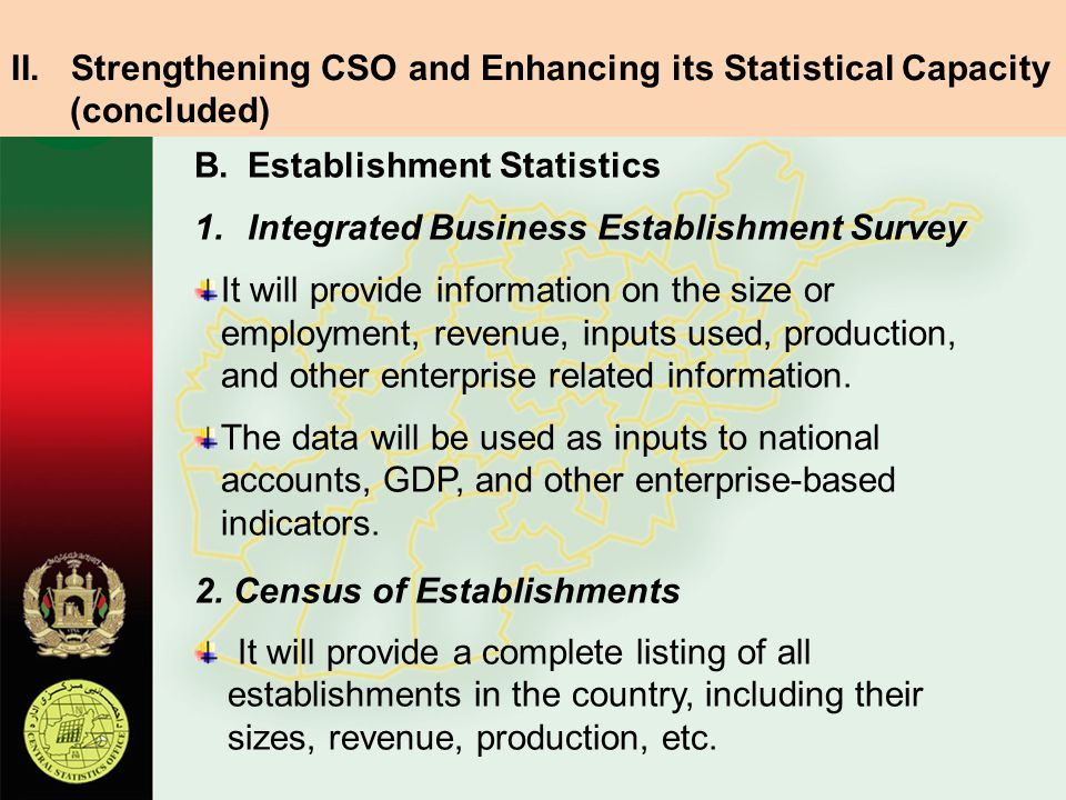 Strengthening CSO and Enhancing its Statistical Capacity