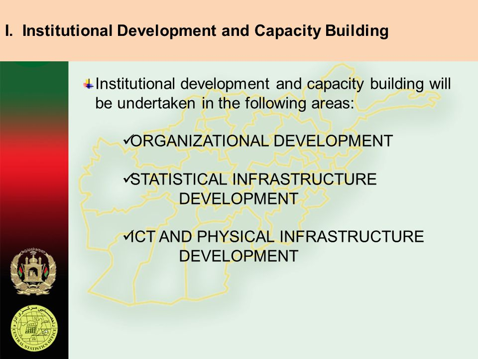 I. Institutional Development and Capacity Building