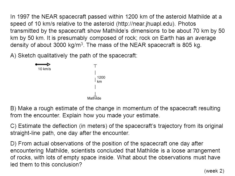 A) Sketch qualitatively the path of the spacecraft: