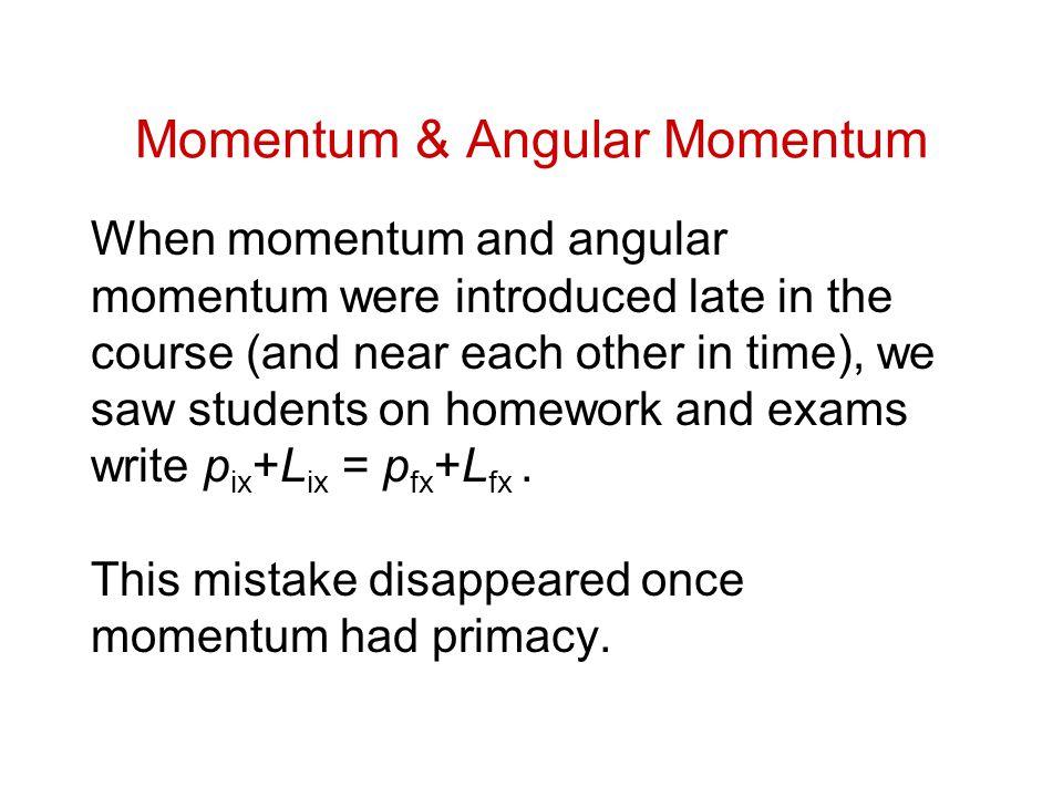 Momentum & Angular Momentum