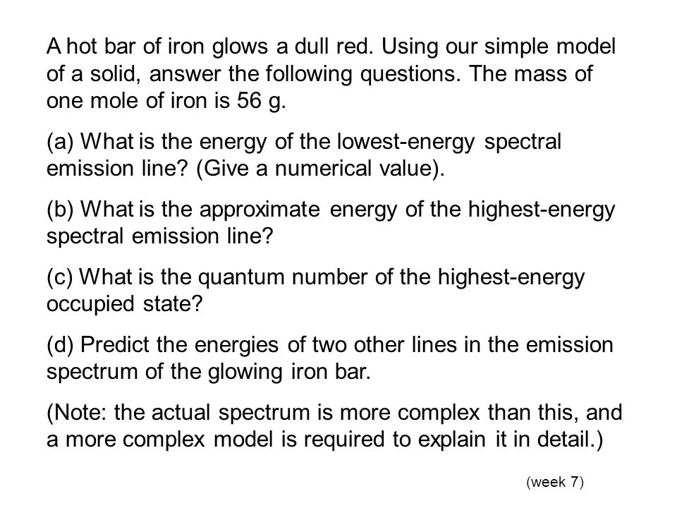 (c) What is the quantum number of the highest-energy occupied state