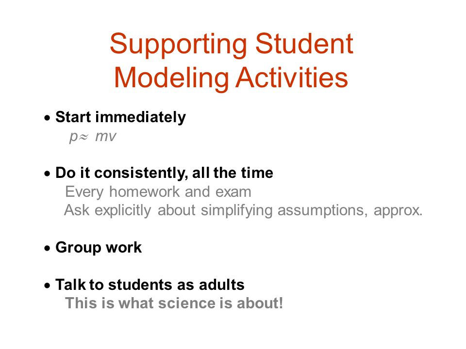 Supporting Student Modeling Activities