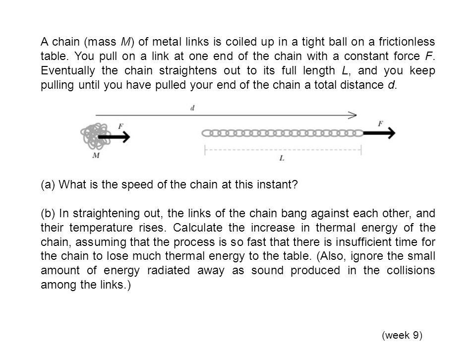 (a) What is the speed of the chain at this instant