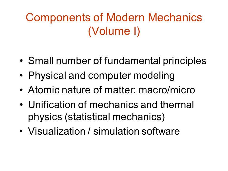 Components of Modern Mechanics (Volume I)