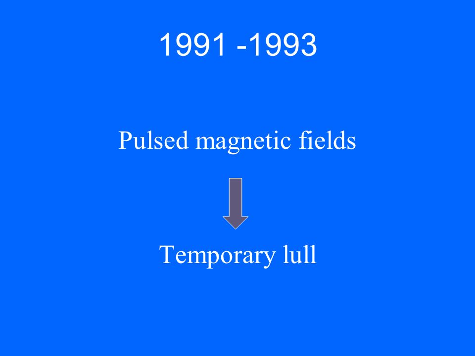 Pulsed magnetic fields