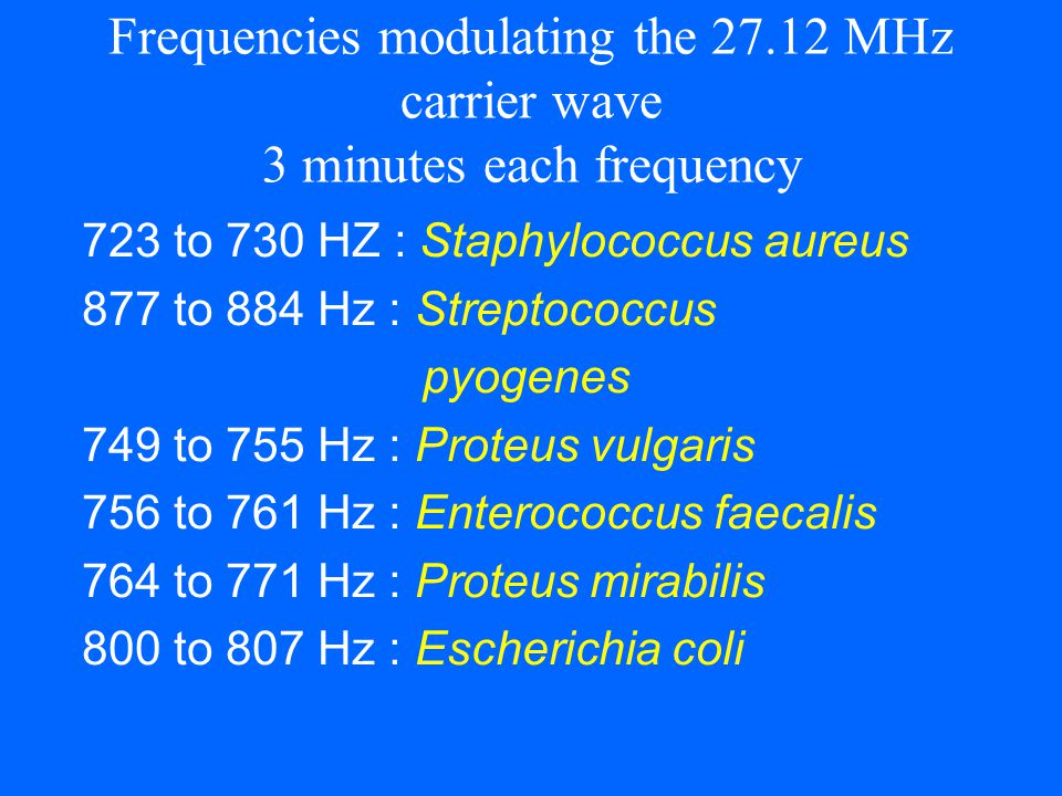 Frequencies modulating the 27