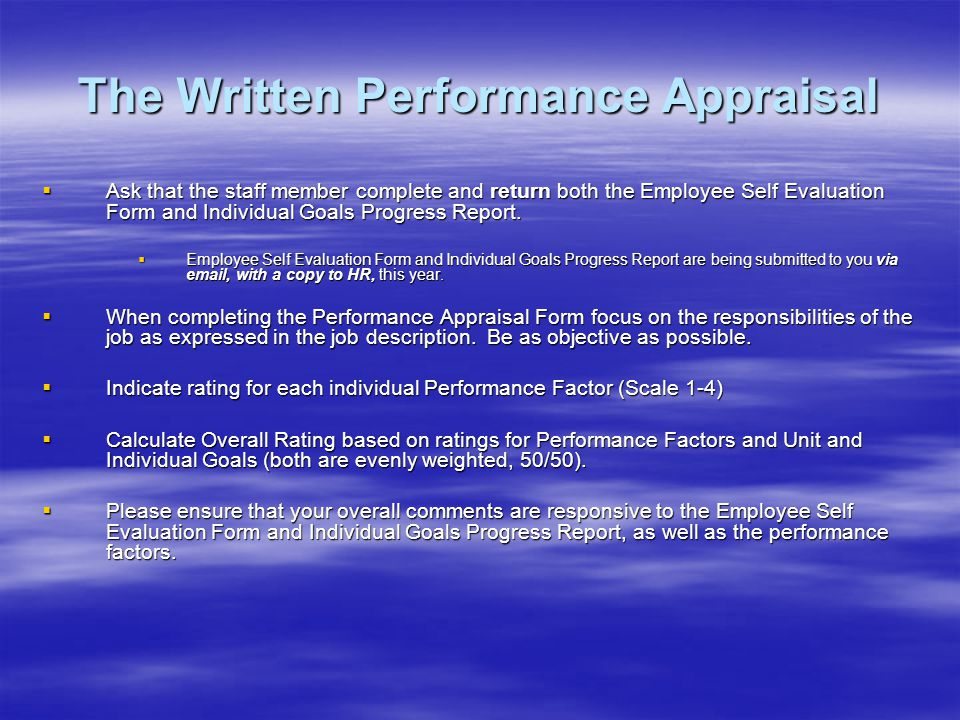 Performance Appraisals - Ppt Download