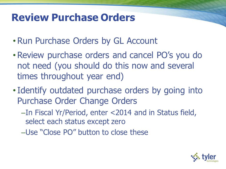 Review Purchase Orders