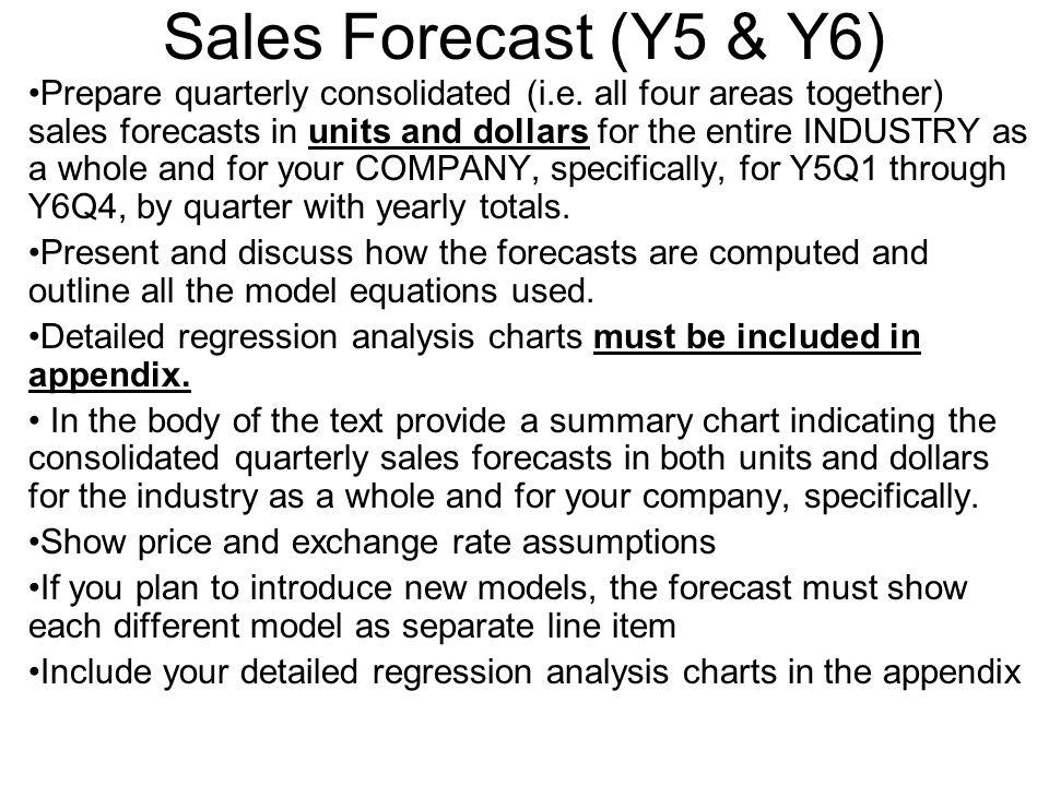 Sales Forecast (Y5 & Y6)