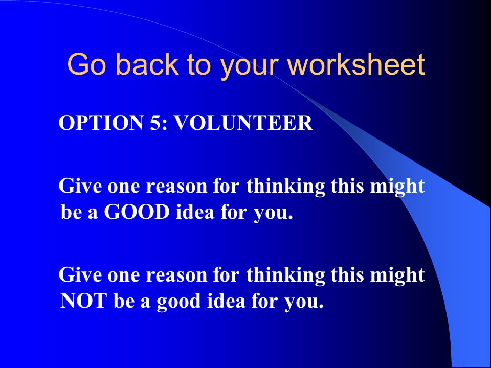 Go back to your worksheet