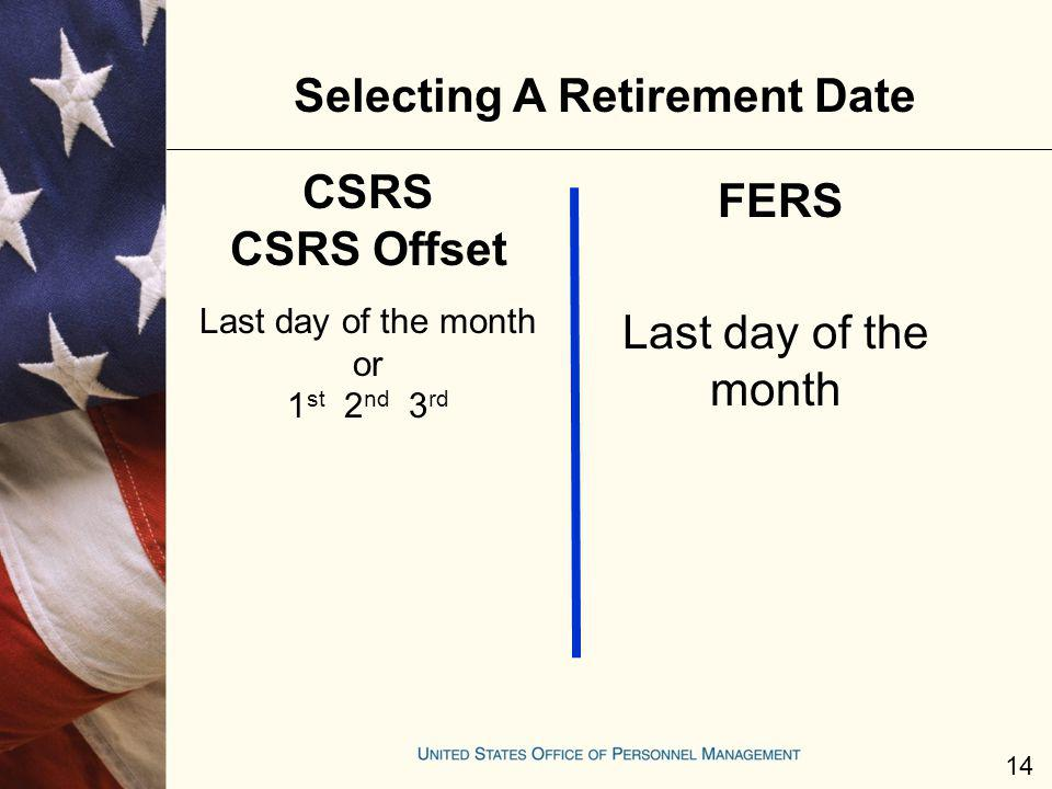 Selecting A Retirement Date