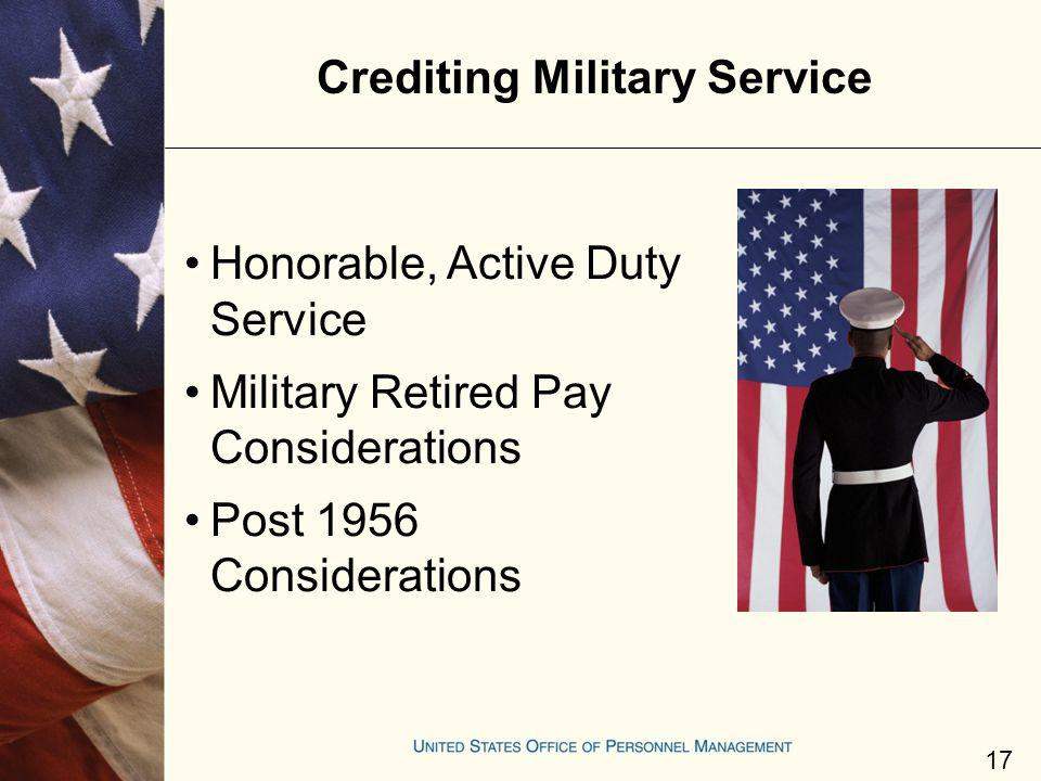Crediting Military Service
