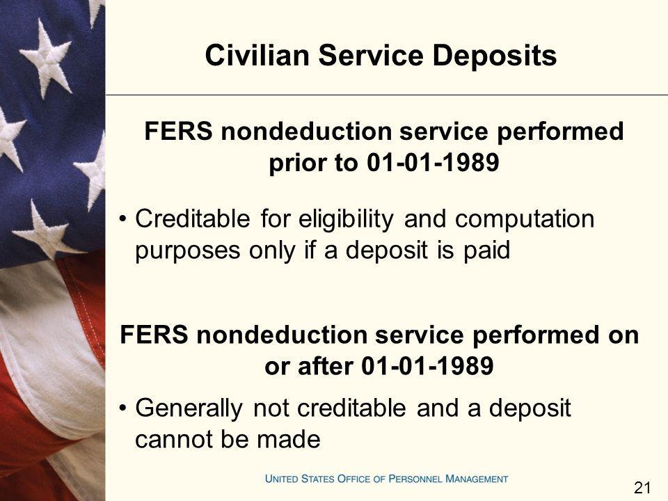 Civilian Service Deposits