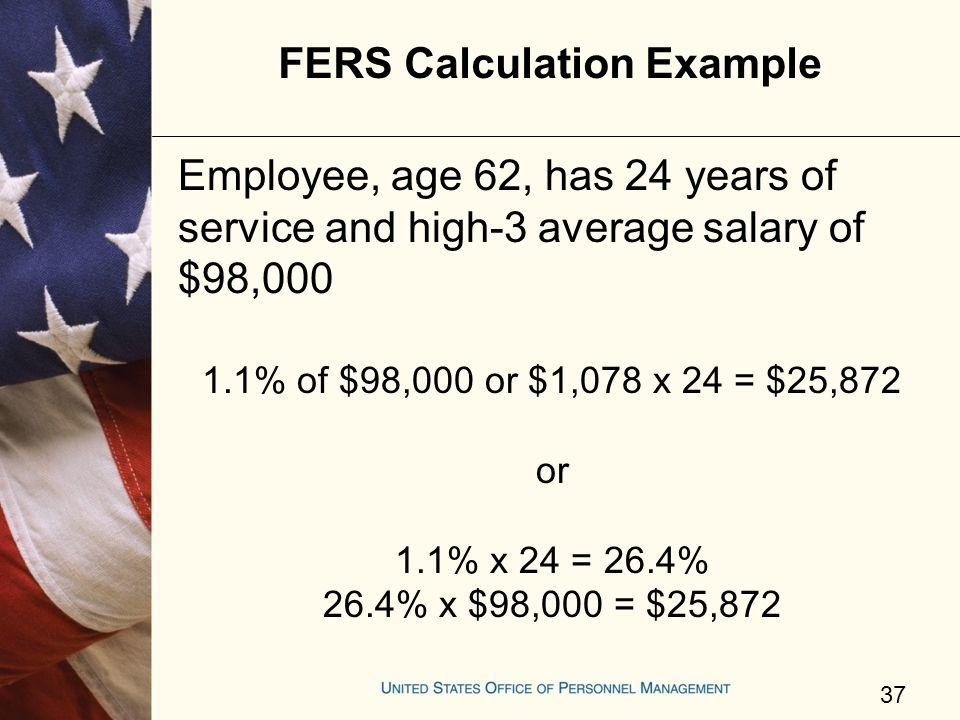 FERS Calculation Example