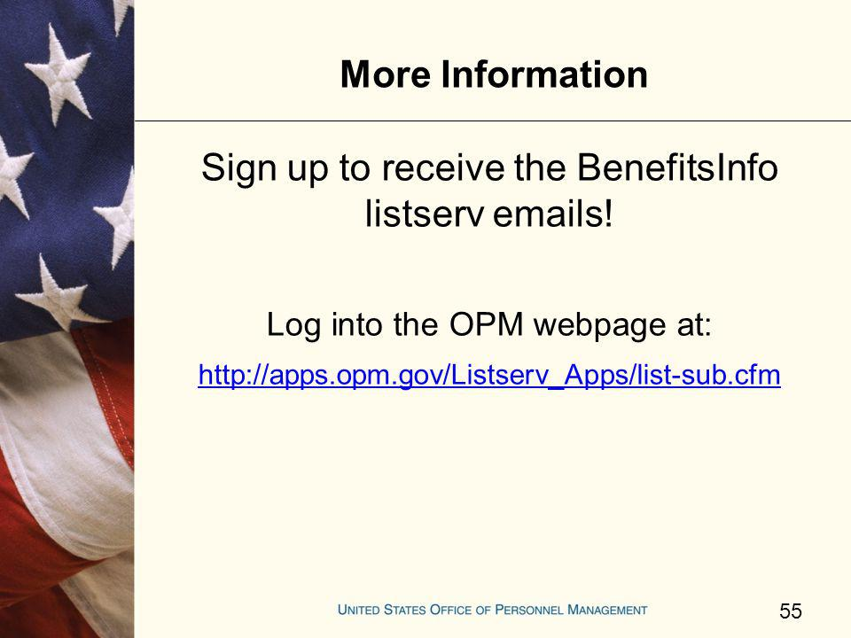 Sign up to receive the BenefitsInfo listserv emails!