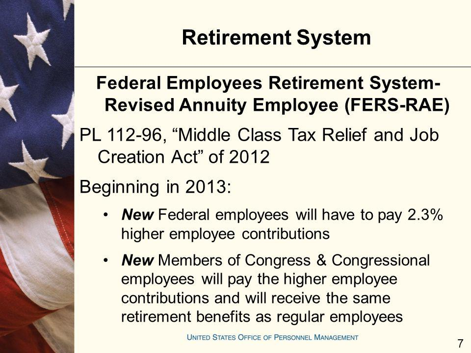 Retirement System Federal Employees Retirement System- Revised Annuity Employee (FERS-RAE)