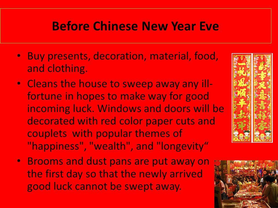 Before Chinese New Year Eve