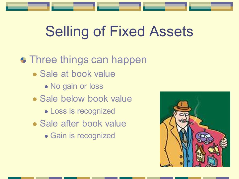 Selling of Fixed Assets