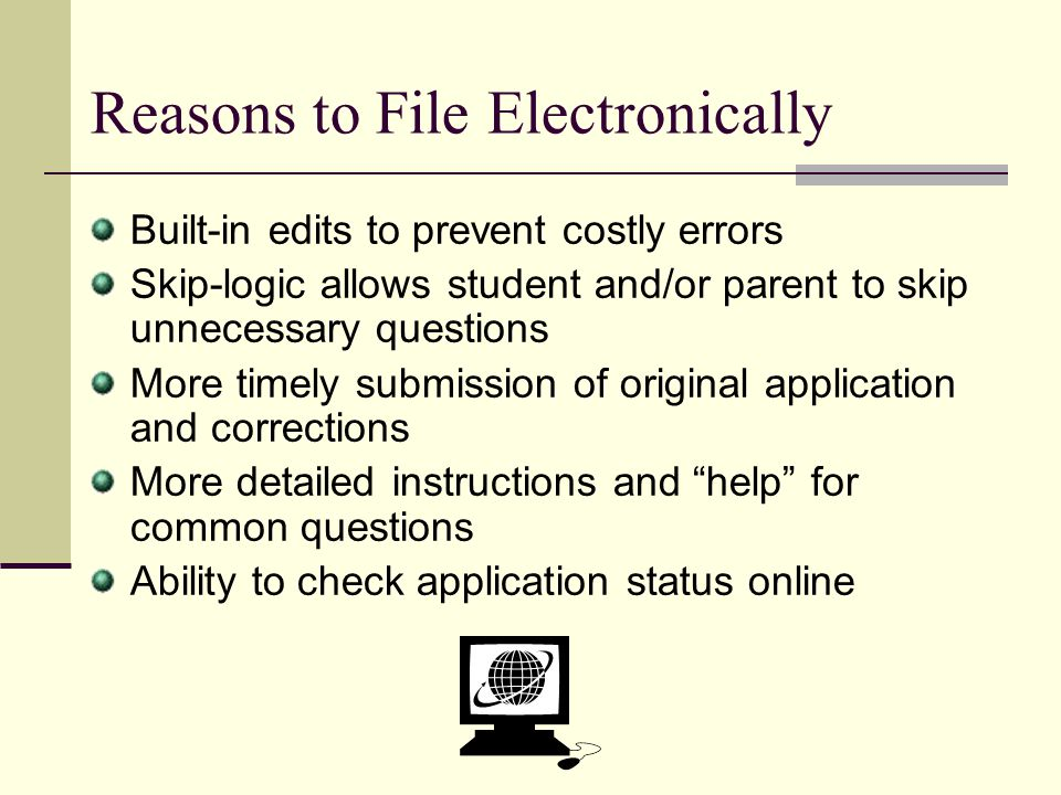 Reasons to File Electronically