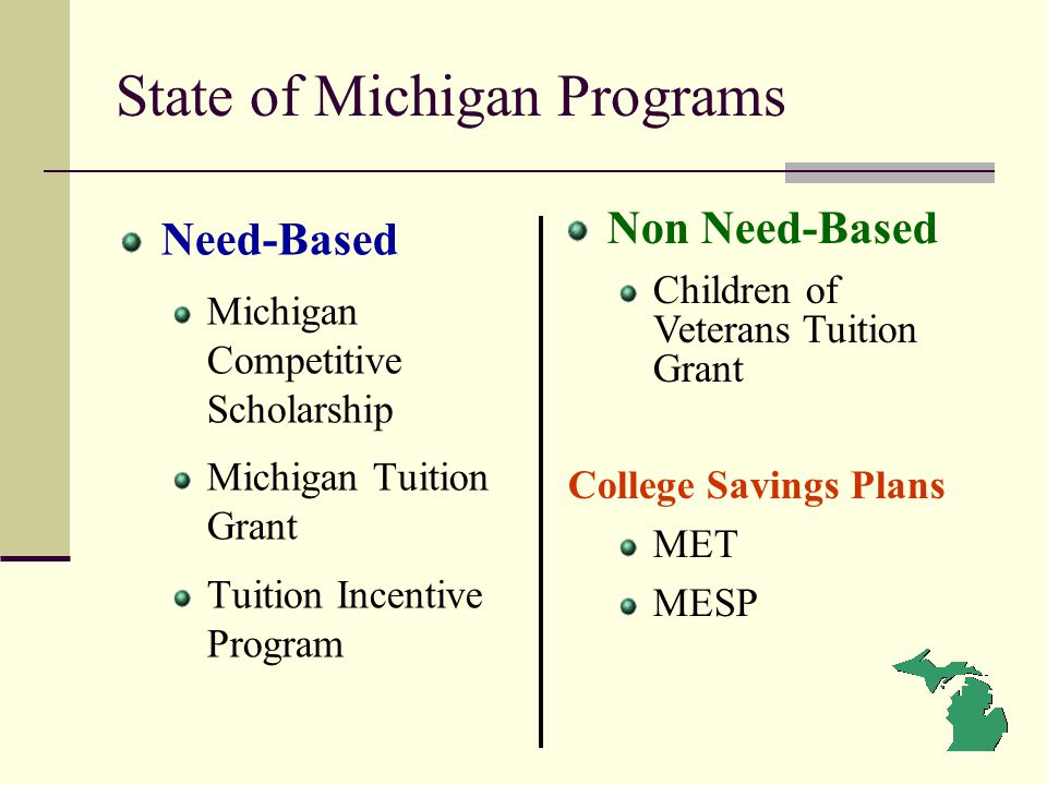 State of Michigan Programs