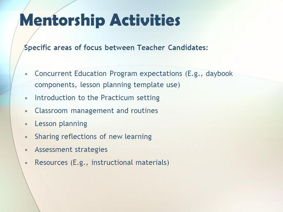 Mentorship Activities