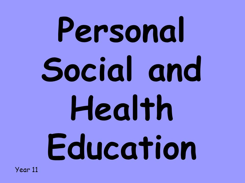 Personal Social and Health Education