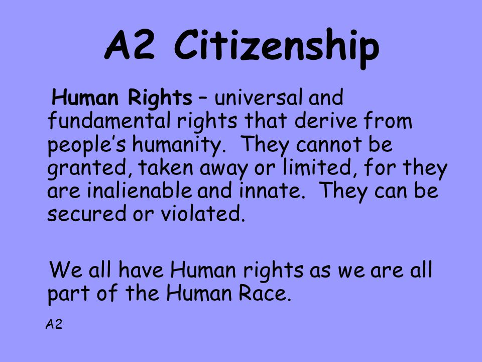 A2 Citizenship