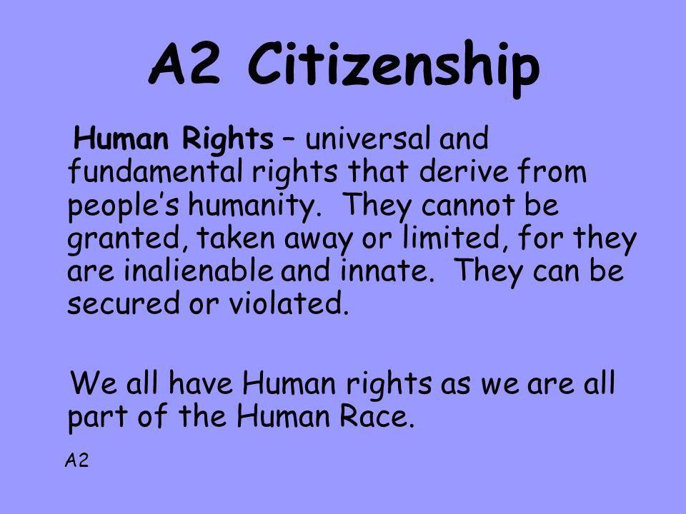 A2 Citizenship
