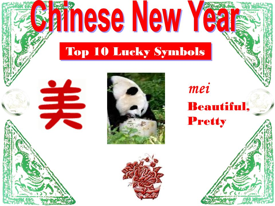 Chinese New Year Top 10 Lucky Symbols mei Beautiful, Pretty