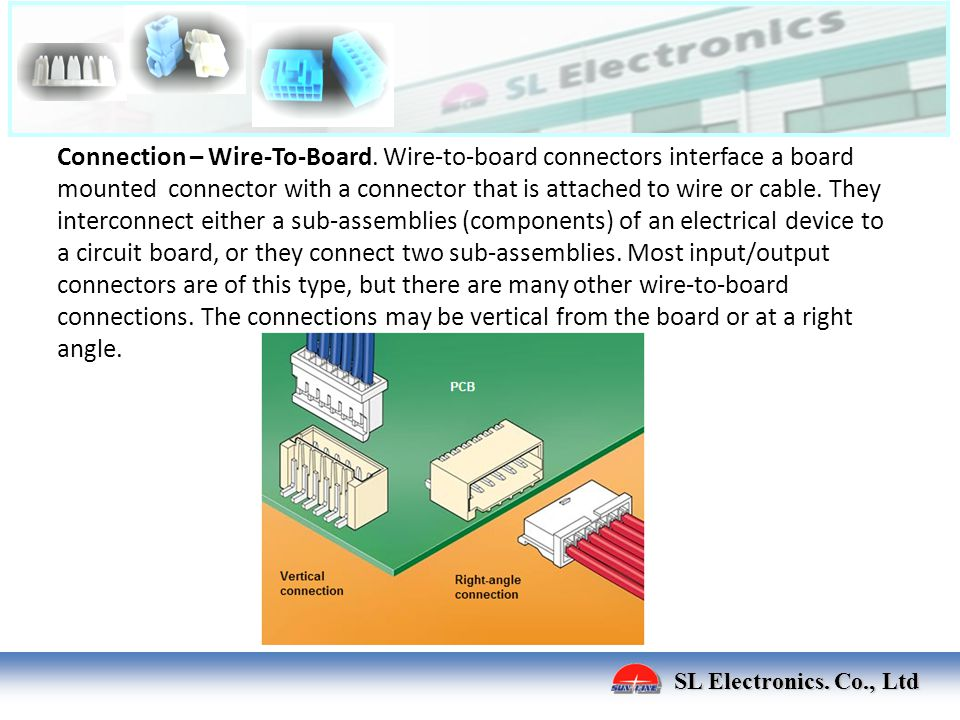 Connection – Wire-To-Board
