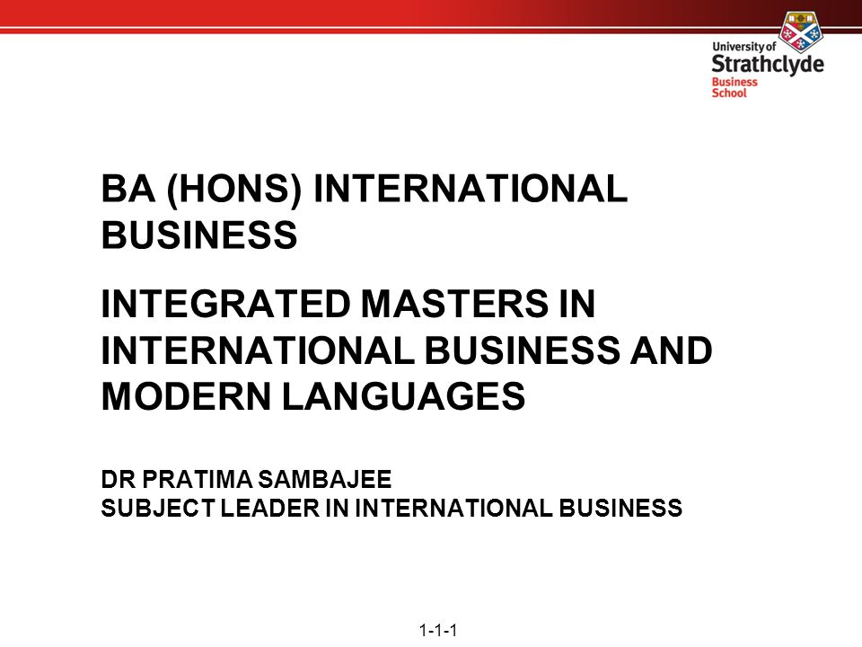BA (HONS) INTERNATIONAL BUSINESS