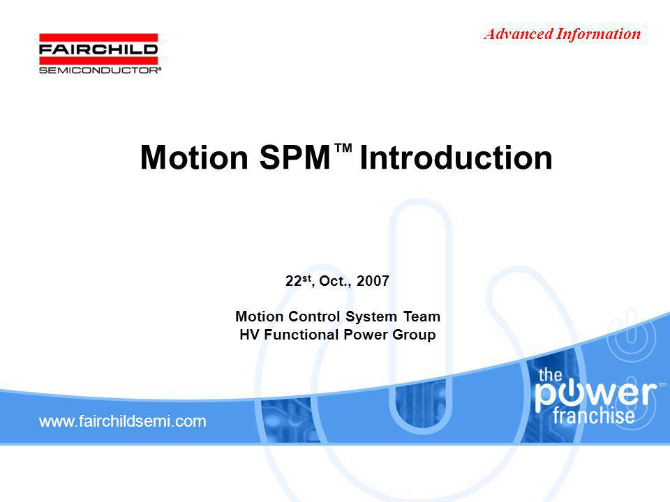 Motion SPM™ Introduction