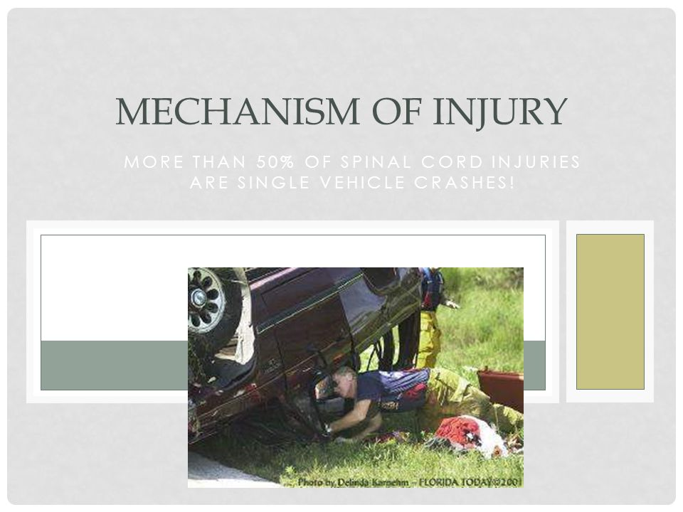 More than 50% of Spinal cord injuries are single vehicle crashes!