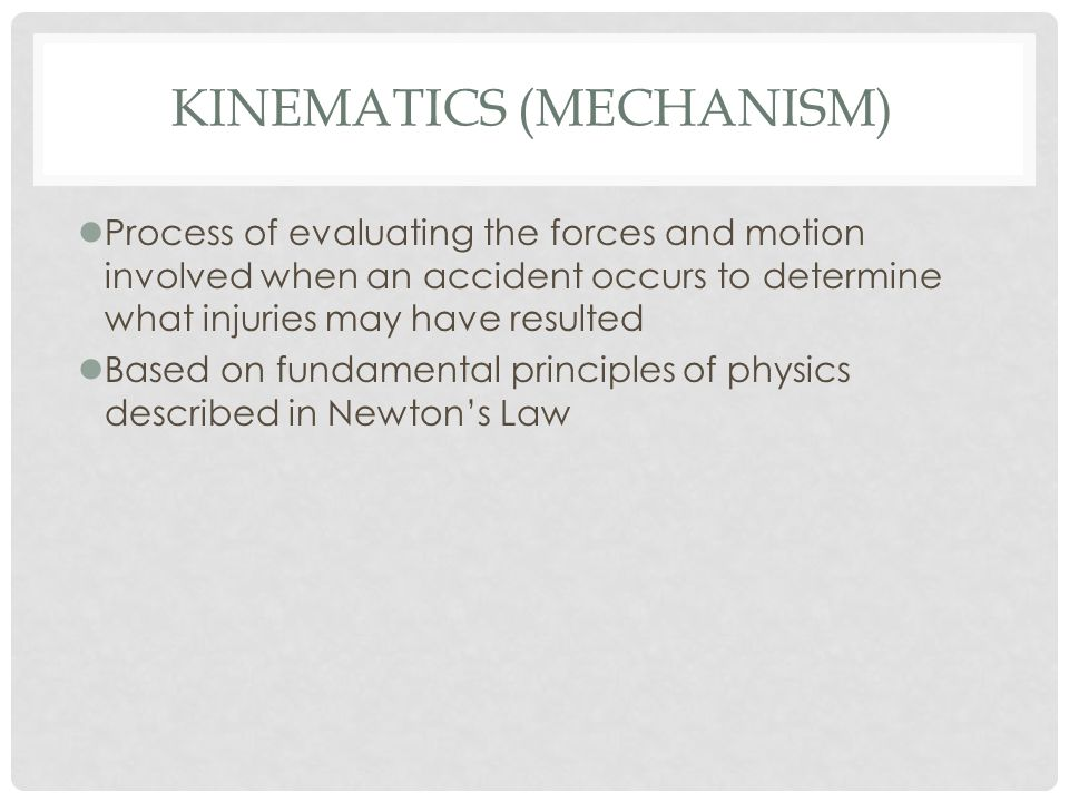 Kinematics (Mechanism)