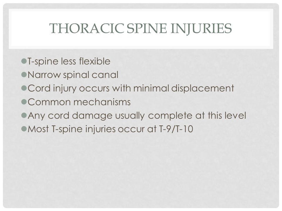 Thoracic Spine Injuries