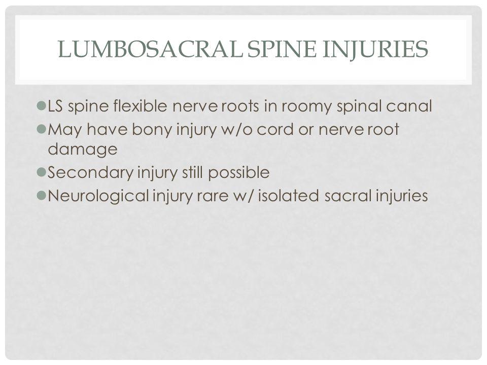 Lumbosacral Spine Injuries